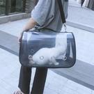 貓包寵物包貓籠子狗包包貓咪外出便攜包太空包貓袋透明透氣貓背包 茱莉亞