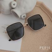 PUFII-墨鏡 復古時尚金邊方框墨鏡- 0722 現+預 夏【CP18953】
