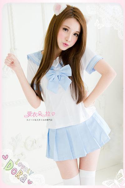 水手服 制服 百摺裙學生制服 情人節角色扮演服飾-愛衣朵拉