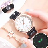 手錶 正韓女學生簡約時尚潮流防水休閒大氣ins學院原宿風石英女表
