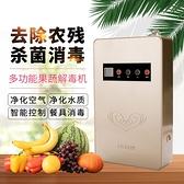 台灣現貨 110V 家用多功能蔬果消毒機 活氧機 臭氧清洗機 洗菜機空氣淨化器蔬菜解毒機