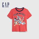 Gap 男幼童 Gap x Disney迪士尼系列仿舊風格紮染短袖T恤 544966-橡皮紅