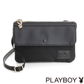 PLAYBOY- 斜背小包 Charming Black 魅力墨黑系列-黑色