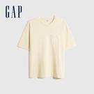 Gap男裝 純棉基本款圓領短袖T恤 699888-米黃色