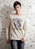 【BTIS】Falcons 厚絨男長袖T恤 米白色