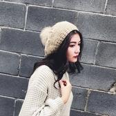 毛線帽子女文創貝雷帽秋冬日系畫家帽保暖【聚寶屋】