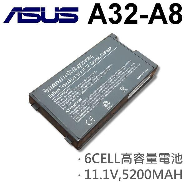 ASUS 6芯 日系電芯 A32-A8 電池 A8Fm A8H A8He A8J A8Ja A8Jc A8Jm A8Jn A8Jp A8Jr A8Js A8Jv A8Le A8M A8N