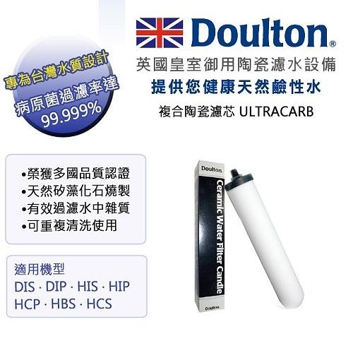 【南紡購物中心】英國 DOULTON 道爾敦 陶瓷濾芯 ULTRACARB (DIP,DIS 專用)