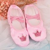 兒童舞蹈鞋 新款兒童芭蕾舞鞋女孩跳舞鞋練功形體演出舞蹈鞋幼兒園寶寶貓爪鞋 至簡元素