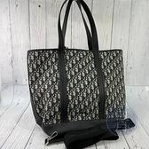BRAND楓月 Christian Dior 迪奧 藍老花 帆布材質 托特包 肩背包 斜背包 手提包 兩用包