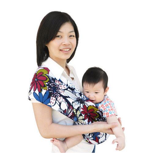 【奇買親子購物網】Una 背巾~無環哺乳嬰兒揹巾 ☆╮南洋戀曲╭☆S/M/L/XL/LL☆台灣製好品質
