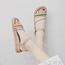 羅馬涼鞋女2021年夏季新款仙女風百搭學生森女一字帶平底鞋ins潮 小艾新品
