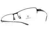 SEROVA 光學眼鏡 SP420 C16 (黑) 純鈦質感半框款 眼鏡框 #金橘眼鏡