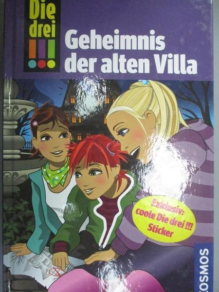 【書寶二手書T2/原文書_GTE】Die drei !!!Geheimnis der alten Villa_Maja