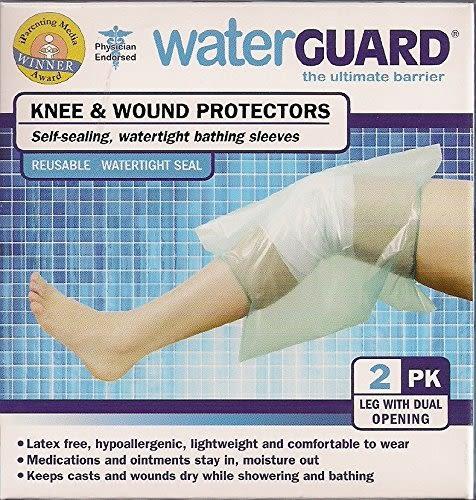 兒童傷口防水隔離套 美國原裝Waterguard  2入 膝蓋套雙開式  適合海灘泳池林浴