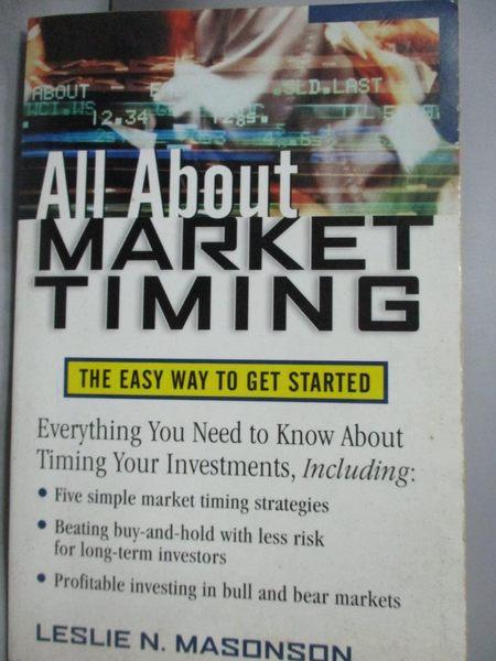 【書寶二手書T3/行銷_QIV】All About Market Timing: The Easy Way to Get