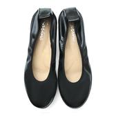 karine(MIT台灣製)全真皮素面厚底娃娃鞋-黑色