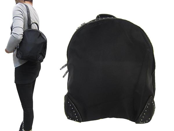 ~雪黛屋~COUNT 後背包小容量主袋+外袋共三層輕量防水水晶布+牛皮革二層BCD50003201200
