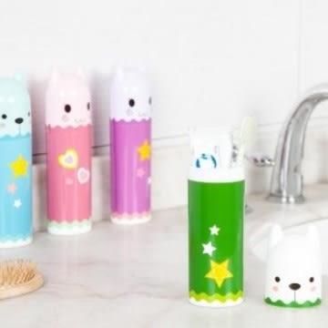 預購-卡通造型洗漱牙具牙刷盒