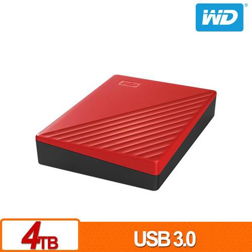 (2019新款) WD My Passport 4TB 紅色 2.5吋 USB3.0 外接硬碟 WDBPKJ0040BRD-WESN