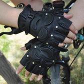 手套 真皮半指手套男青年戰術秋冬騎行保暖女健身戶外運動兒童街舞機車 韓先生