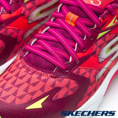 【SKECHERS促銷5折】 SKECHERS   GORun Ride 5 女 紅 運動鞋