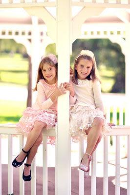 ★童裝大亨★美國MAELI ROSE雙層蕾絲衣擺洋裝上衣4F02粉