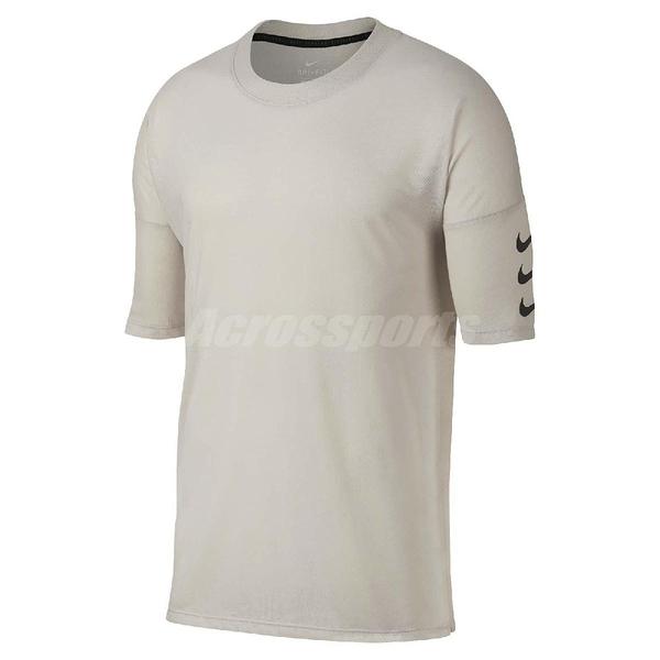 Nike T恤 Rise 365 Half Sleeve Top 五分袖設計 米白 勾勾 男款 【PUMP306】 928542-008