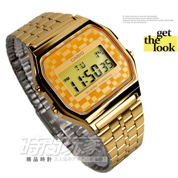 A159WGEA-9A卡西歐CASIO 復古潮流 金色時尚魅力 數位電子不鏽鋼男錶女錶中性錶 A159WGEA-9ADF