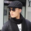 帽子男冬天韓版潮百搭黑色鴨舌帽秋冬針織毛線帽前進帽休閒貝雷帽  快速出貨