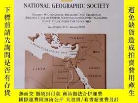 二手書博民逛書店National罕見Geographic國家地理雜誌地圖系列之1995年1月 Egypt s Nile Valle