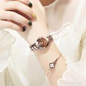 韓版時尚簡約鎢鋼不掉色全自動手錶夜光雙日歷防水女士百搭潮流