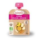 BABYBIO 有機蘋果香橙香蕉纖果泥90g-法國原裝進口6個月以上嬰幼兒專屬副食品