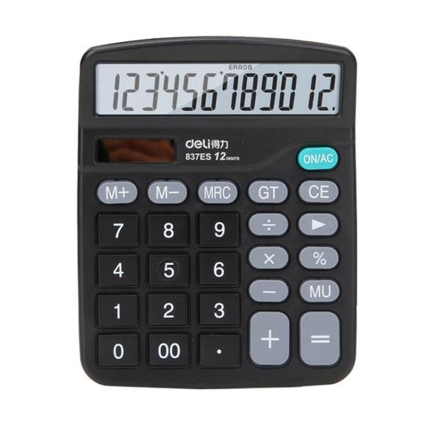 計算機 12位屏幕 計算器 計算機 太陽能 雙電源 辦公財務算賬