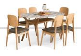 [紅蘋果傢俱]SBE-003 大理石餐桌椅 實木 餐桌 餐椅 簡約 現代 飯桌