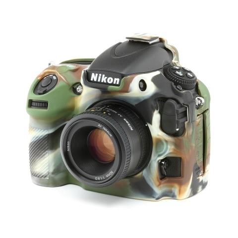 【】easyCover 金鐘套 Nikon D800 D800E 適用 果凍 矽膠 防塵 保護套 (迷彩) 公司貨 ECND800C