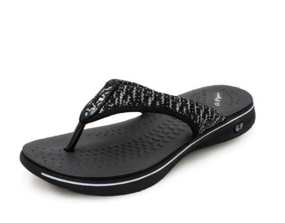 G.P 女款和風夾腳休閒涼拖鞋 黑-NO.G9085W-10