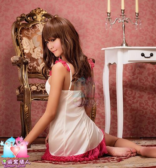 【愛愛雲端】俏麗風情!輕甜柔緞睡襯衣 R5NA13020053