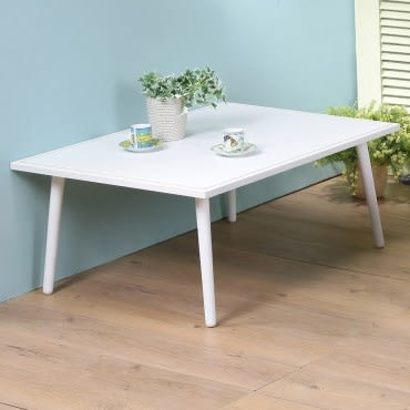 Homelike 東京和室桌-仿馬鞍皮 白色桌面