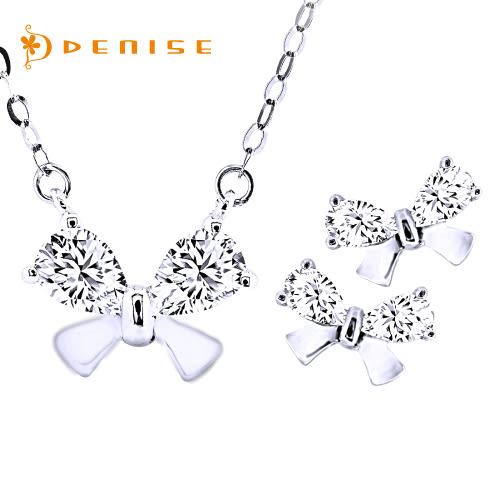 項鍊 耳環 925純銀「玫瑰花漾套組」銀飾禮品