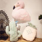ins可愛仿真創意火烈鳥抱枕少女心靠墊沙發辦公室臥室男枕頭  歐韓流行館