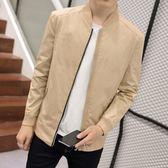 飛行夾克 男士外套   韓版修身休閒青年薄款