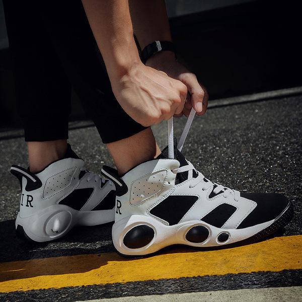 高筒鞋男韓版潮流夏季情侶跑步鞋男中邦休閒板鞋男夏天高筒運動鞋