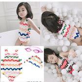 連體裙式泳衣小孩可愛嬰兒歲公主韓版兒童水母衣寶寶游泳衣 nm2785 【Pink中大尺碼】