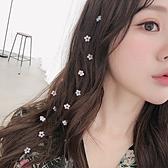 韓國網紅夾子頭飾森系花朵仙美隱形髮梳頭髮裝飾流線髮夾古風髮飾  中秋節全館免運