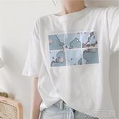 開學季女裝學生百搭王家短袖女夏季日繫元氣少女感上衣t恤 簡而美
