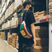 街頭潮流腰包男女嘻哈休閒個性單肩騎行包時尚旅游斜挎小背包胸包
