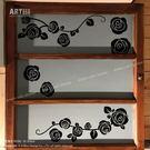 ☆阿布屋壁貼☆玫瑰花ROSE B - M尺寸  壁貼