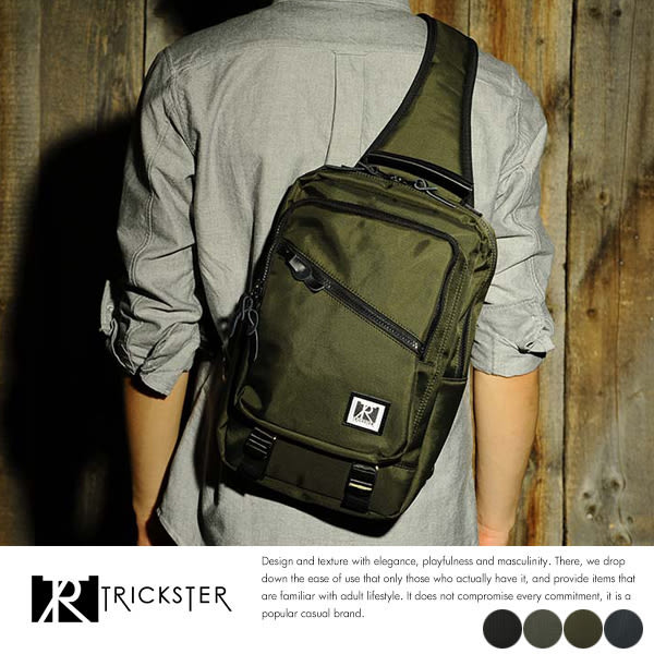現貨【TRICKSTER】日本品牌 A4 單肩後背包 側背包 11吋平板電腦袋 斜背包 多口袋【tr1606】