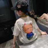 女童純棉短袖T恤2020新款韓版洋氣夏裝打底衫大童兒童半袖上衣潮